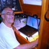 Our latest boat blogger Bill at his station