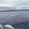 Volcano from a distance- arriving at Tanna