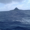 Had to bypass tiny Merig island as it was too rough to call in to drop off med supplies