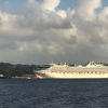 This cruise ship seems to be following us