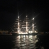 Tenacious by night after dropping off our 29 passengers